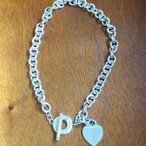 Tiffany and Co. Sterling silver with heart